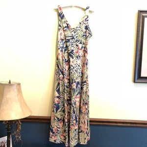 CHAPS Hawaiian floral maxi dress